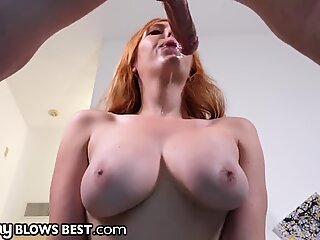 Sexy Redhead Stepmom Knows Hot To Convince Son To Be Nice