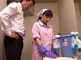 Incredible Japanese model in Crazy Maid, Hardcore JAV clip