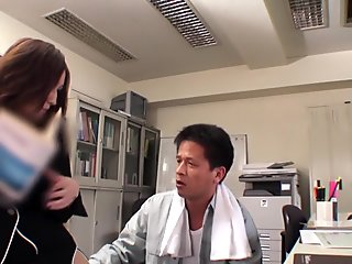 Horny Japanese slut in Crazy Office, Fishnet JAV clip