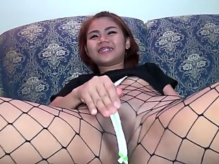 Small Tittie Raving Asian Nymph