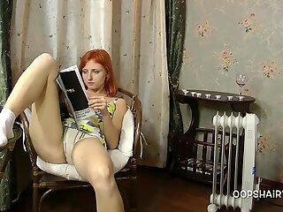 redhead hairy girl Masha