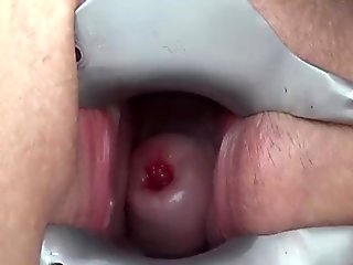 Cervix Fucking Porn Video with Drilldo Penetration