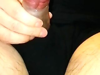 Slow-motion cumshot on my self at the end of slowly growing my tiny penis